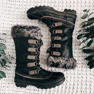 ALDO Lace Up Faux Fur Boots